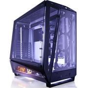 迎广 透2.0 全塔机箱 透明黑(支持EATX主板 铝合金/钢化玻璃/自带1065W发光全模组电源)