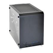 联力 黑色Mini-ITX机箱(侧透/全铝外壳/270mm显卡/支持多水冷设备)PC-Q10WX