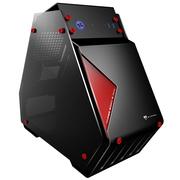博粉 T9mini 双侧透全铝游戏电脑水冷机箱(3毫米铝材/4毫米双钢化玻璃/全隐线背板/MATX/SSD)黑色