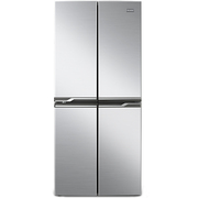 奥马 BCD-403DH 冷藏定期除霜 电脑控温 大容量超薄节能 十字对开门冰箱 银色