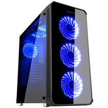 先马 守望者标准版黑 中塔电竞游戏机箱 配3把蓝光风扇/三面钢化玻璃/支持ATX主板 高散热器 长显卡产品图片主图