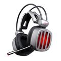 西伯利亚 S21 电竞游戏耳机USB 7.1声道 发光头戴式 带线控电脑耳麦 长管麦克风  铁银灰