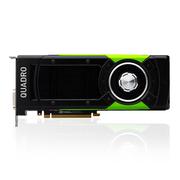丽台 Quadro P6000 24GBGDDR5X/384-bit/ 432GBps/CUDA核心3840/ Pascal GPU架构/支持8K 专业显卡