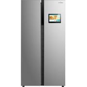美的  BCD-539WKZM(E) 539升智慧彩屏对开门冰箱 风冷无霜 69cm薄身设计 (APP远程控制)炫彩钢