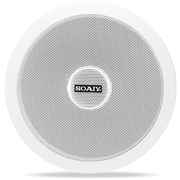 索爱 2301 吸顶喇叭套装背景音乐音响吊顶天花定压定阻公共广播商场音箱 (白色)