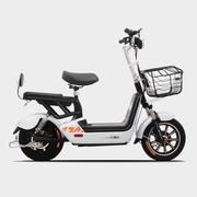 比德文 2017新款电动车 真空胎电动滑板车 电池可取 轻便型长续航电动车48V锂电电瓶车 标准版丝光白
