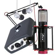 AIX 爱秀RC-X3火箭电容麦克风+艾肯MicU VST外置USB声卡 明星主播套装