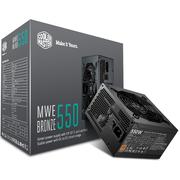 酷冷至尊 额定550W MWE550游戏电源(80PLUS铜牌/DCtoDC架构/日系电容/酷冷FP120静音风扇)