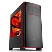 先马 马卡龙黑 简约家用游戏主机机箱 黑色 支持ATX主板/侧透/USB3.0/SSD/背线