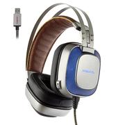 西伯利亚 K10 头戴式 电脑耳麦 发光 电竞游戏耳机 铁灰色