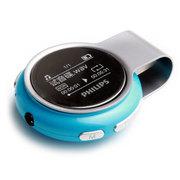 飞利浦 SA5608 MP3播放器USB直插8G 运动计步器 FM收音录音 蓝色