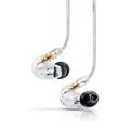 舒尔 SE215 隔音防汗通用入耳式运动HiFi手机耳机 音乐版 透明色