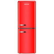 金松 133升 欧式复古 迷你 双门  上冷藏下冷冻 彩色家用电冰箱 BCD-133R (米萨红)