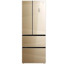 美菱 BCD-405WPBX 405升法式多门冰箱 0.1度双精度变频 风冷无霜干湿分储杀菌保鲜 玻璃面板(流沙金)产品图片主图