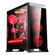 长城 魔镜V200RGB 电竞机箱(标配3把RGB风扇/一键调光/钢化玻璃/防尘网/长显卡/ATX主板)