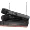 索爱 CK-M53 B款 家用KTV 卡拉OK 电脑K歌 一拖二套装 无线麦克风话筒 双手麦 麦克风 (黑色)产品图片2
