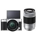富士 X-A3 (XC16-50II/XC50-230II) 银黑色 微单电双镜头套机 2420万像素 180度翻转触摸屏 WIFI