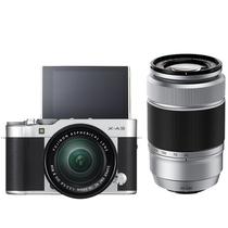 富士 X-A3 (XC16-50II/XC50-230II) 银黑色 微单电双镜头套机 2420万像素 180度翻转触摸屏 WIFI产品图片主图