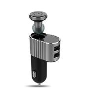 浦诺菲 PBH-D900车载迷你蓝牙耳机 车充耳机二合一 支持多点连接 灰色