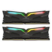 十铨 RGB灯条 DDR4 3200 16G(8G×2)套装 台式机 内存条 夜鹰黑色