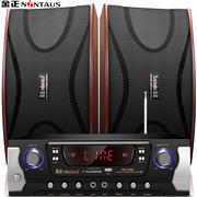 金正 音响 音箱 家庭影院KTV音响套装 专业家庭音响 卡拉OK功放支持点歌系统(D19+BN-308)