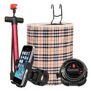 乐行 电动自行车配件四件套(车锁 车篮 手机支架 打气筒)