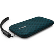 飞利浦 BT3900A 音乐手包 防水蓝牙音箱 便携迷你音响 手机/电脑小音响 户外运动/免提通话 蓝色