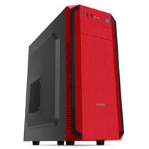 先马 战狼 中塔式电脑主机箱 中国红/支持ATX主板/USB3.0/SSD/光驱位/长显卡/支持背线产品图片主图