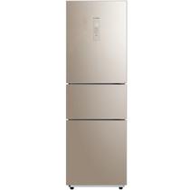 美的  220升 玻璃面板节能静音时尚三门冰箱 日耗电0.49度 中门保鲜冷冻  BCD-220TGM蝶韵金产品图片主图