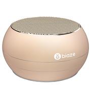 BIAZE DY01 蓝牙音箱 便携式无线音响 插卡音箱 手机音乐播放器 金色