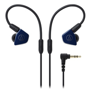 铁三角 ATH-LS50iS 双动圈手机带线控入耳式耳机 藏青色