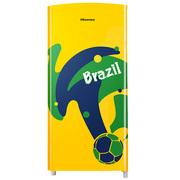 海信 150升 单门小冰箱 家用保鲜 一级节能 实用微冷冻室 足球纪念款 BC-150E/A(桑巴)