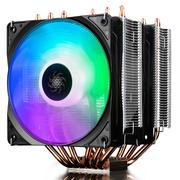 九州风神 大霜塔RGB CPU散热器 (17种RGB灯效/6热管/双RGB风扇/附带硅脂/线控)