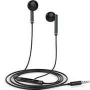 华为 原装三键线控带麦半入耳式耳机 AM116 黑色