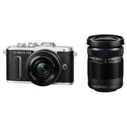 奥林巴斯 E-PL8 14-42mm EZ+40-150mm R 黑色 微单电双镜头套机 机身防抖 美颜自拍 PL7升级版