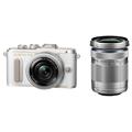奥林巴斯 E-PL8 14-42mm EZ+40-150mm R 白色 微单电双镜头套机 机身防抖 美颜自拍 PL7升级版