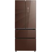 美的  379升 玻璃面板 多维智能双变频多门冰箱 风冷无霜 温湿精控 铂金净味 BCD-379WGPZM(E)伯爵咖
