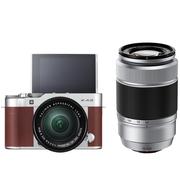 富士 X-A3 (XC16-50II/XC50-230II) 棕褐色 微单电双镜头套机 2420万像素 180度翻转触摸屏 WIFI
