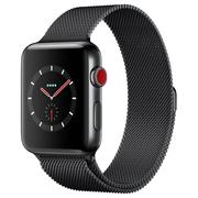苹果 Watch series3(GPS+蜂窝网络款 42毫米 深空黑色不锈钢表壳 深空黑色米兰尼斯表带)
