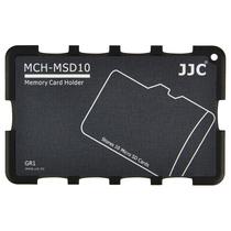 JJC MCH-MSD10GR 超薄内存卡套 单反相机存储卡盒 TF卡数码便携收纳卡包 灰色卡片式卡盒 (可放10张MSD/TF卡)产品图片主图