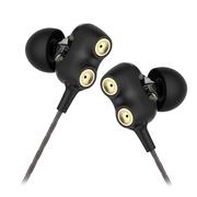 兰士顿 D2M双动圈耳机入耳式 重低音跑步运动耳机挂耳式 安卓苹果电脑通用耳塞式 HiFi降噪音乐耳机 黑色