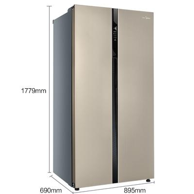 美的  552升 变频智能对开门冰箱 风冷无霜 速冷速冻 电脑控温 BCD-552WKPZM(Q)芙蓉金产品图片2