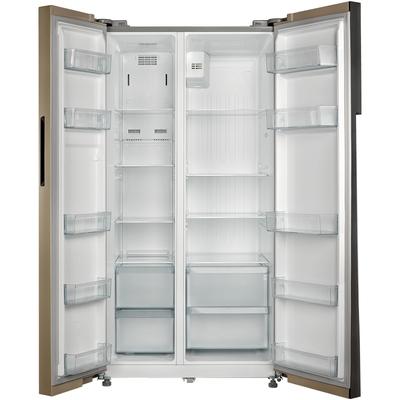 美的  552升 变频智能对开门冰箱 风冷无霜 速冷速冻 电脑控温 BCD-552WKPZM(Q)芙蓉金产品图片4
