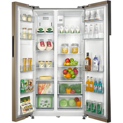 美的  552升 变频智能对开门冰箱 风冷无霜 速冷速冻 电脑控温 BCD-552WKPZM(Q)芙蓉金产品图片5