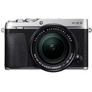 富士 X-E3 XF18-55 微单电套机 银色 2430万像素 触摸屏 4K视频 蓝牙4.0