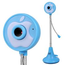 奥速(ASHU) 309 网络摄像头 电脑台式机笔记本摄像头 带话筒 蓝色产品图片主图