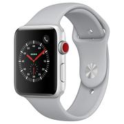 苹果 Watch Series 3智能手表(GPS+蜂窝网络款 42毫米 银色铝金属表壳 云雾灰色运动型表带 MQQR2CH/A)