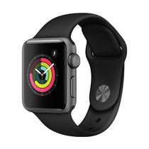 苹果 Watch Series 3智能手表(GPS款 38毫米 深空灰色铝金属表壳 黑色运动型表带 MQKV2CH/A)产品图片主图