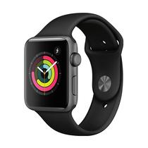 苹果 Watch Series 3智能手表(GPS款 42毫米 深空灰色铝金属表壳 黑色运动型表带 MQL12CH/A)产品图片主图