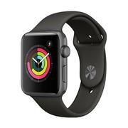 苹果 Watch Series 3智能手表(GPS款 42毫米 深空灰色铝金属表壳 灰色运动型表带 MR362CH/A)